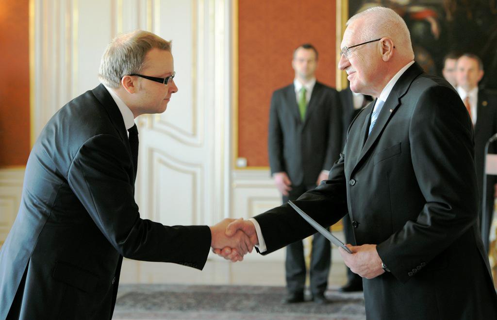 Václav Klaus a Tomáš Chalupa