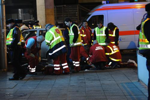 Zásah maďarské ambulance