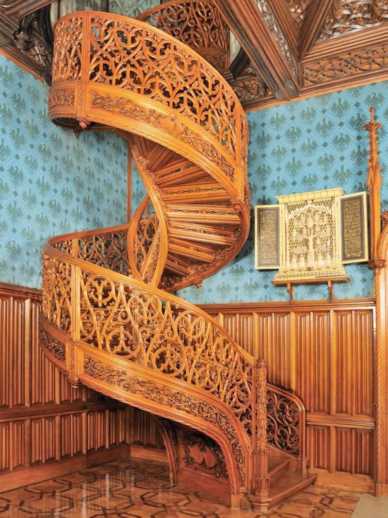 Schodiště na zámku Lednice
