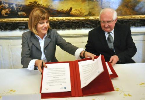 Anne Lauergeonová a Josef Průša
