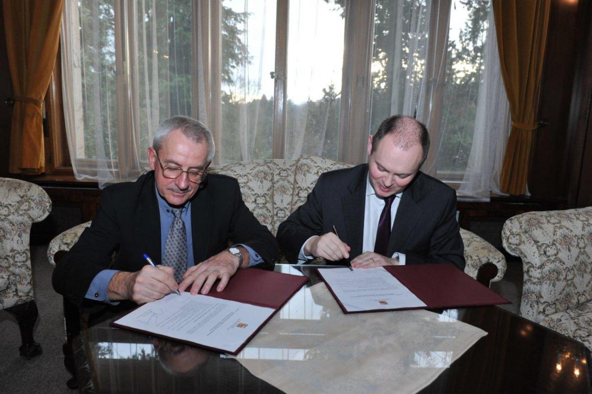 Leoš Heger a Michal Hašek