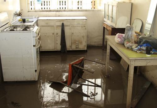 Spoušť po povodních v Austrálii