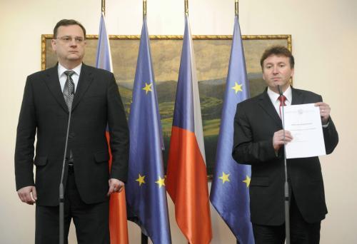 Petr Nečas a Milan Kubek