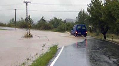 Zatopená silnice