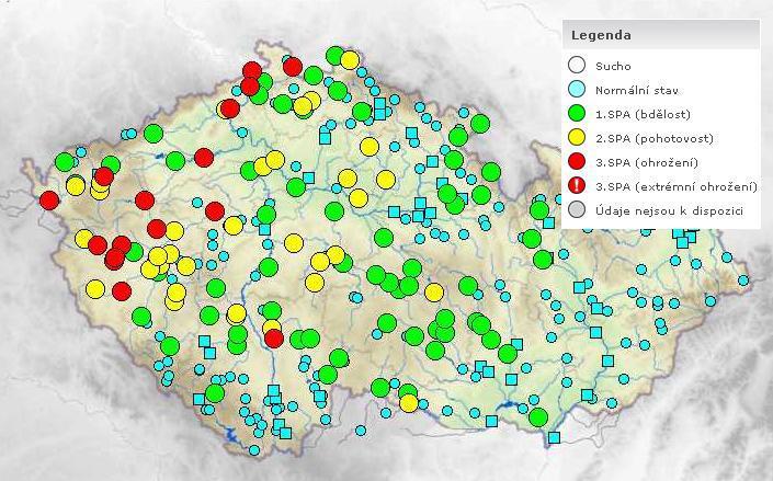 Povodňová situace - pátek 14.ledna v 19:00