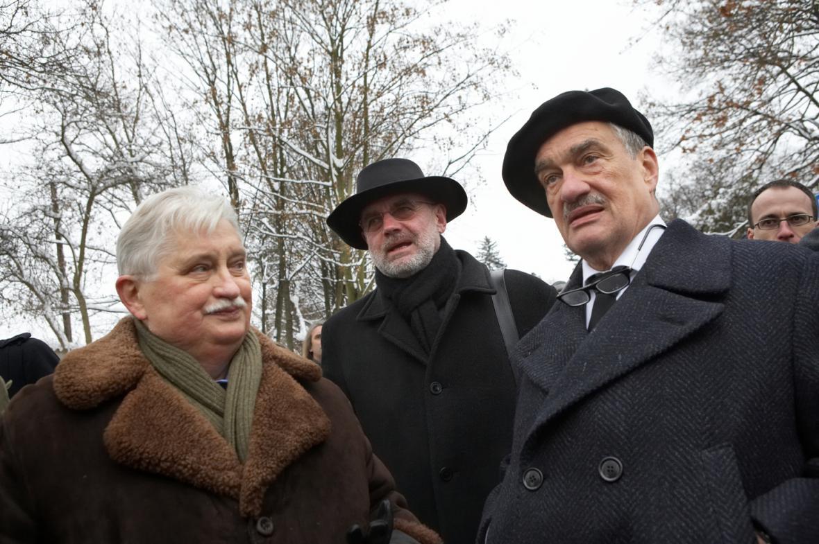 Jiří Dienstbier, Jan Ruml a Karel Schwarzenberg