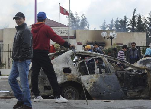 Následky nepokojů v Tunisku
