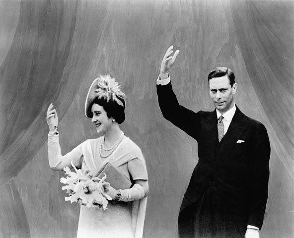Král Jiří VI. a královna Elizabeth v Kanadě v roce 1939