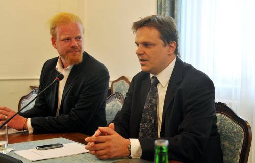 Členové NERV Tomáš Sedláček a Pavel Kohout
