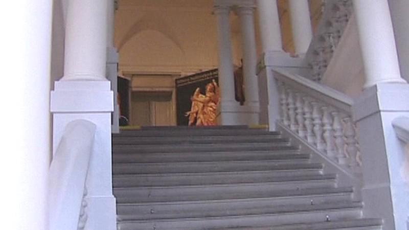 Jihočeské muzeum / hlavní schodiště