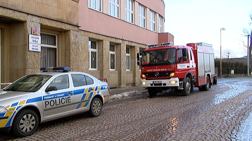 Evakuace v Plaňanech