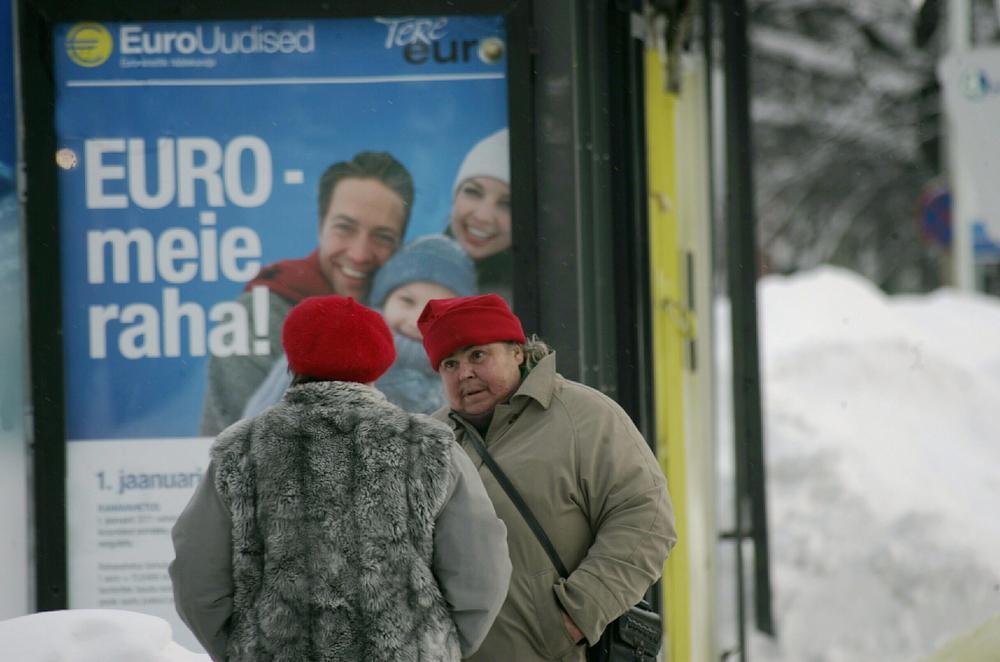 Estonské euro je tu