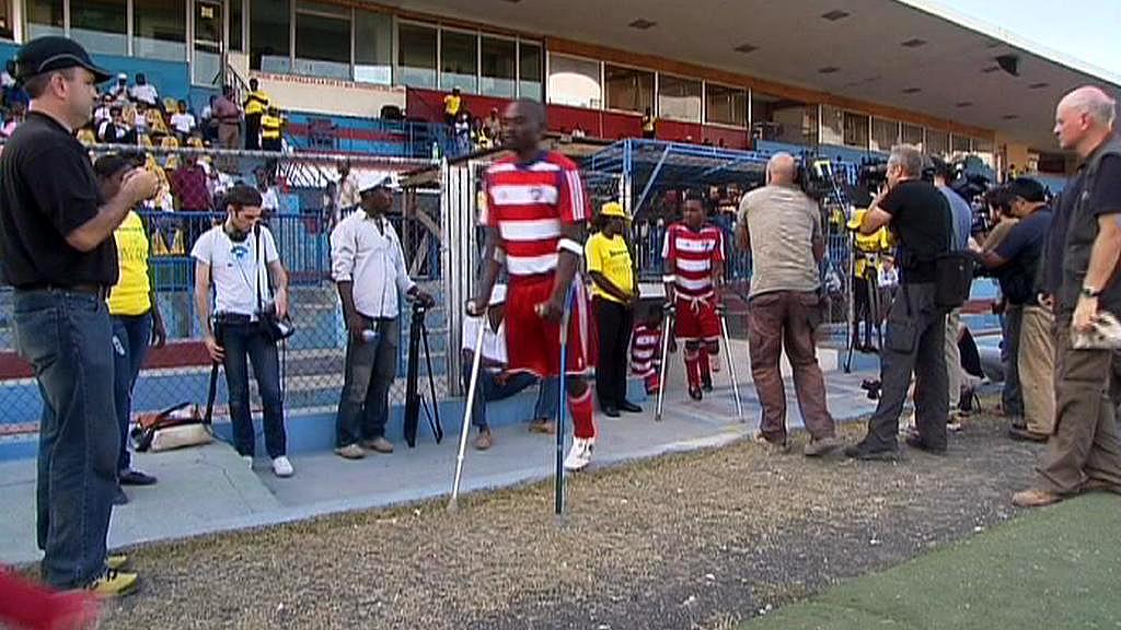 Fotbalový zápas na Haiti