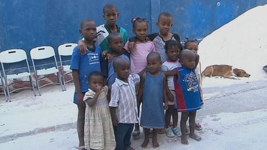 Děti z haitského sirotčince
