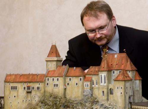 Model hradu Český Krumlov