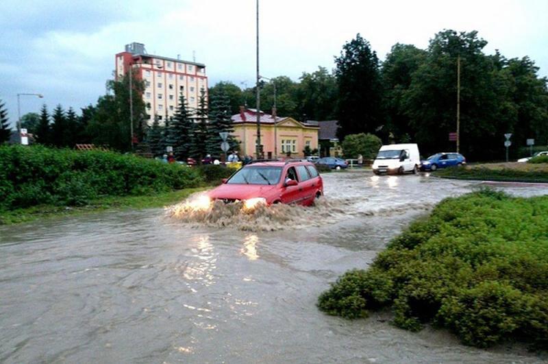 Zaplavená silnice