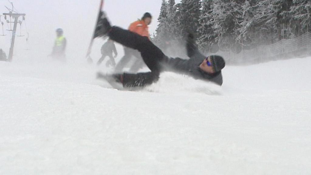 Pád na lyžích