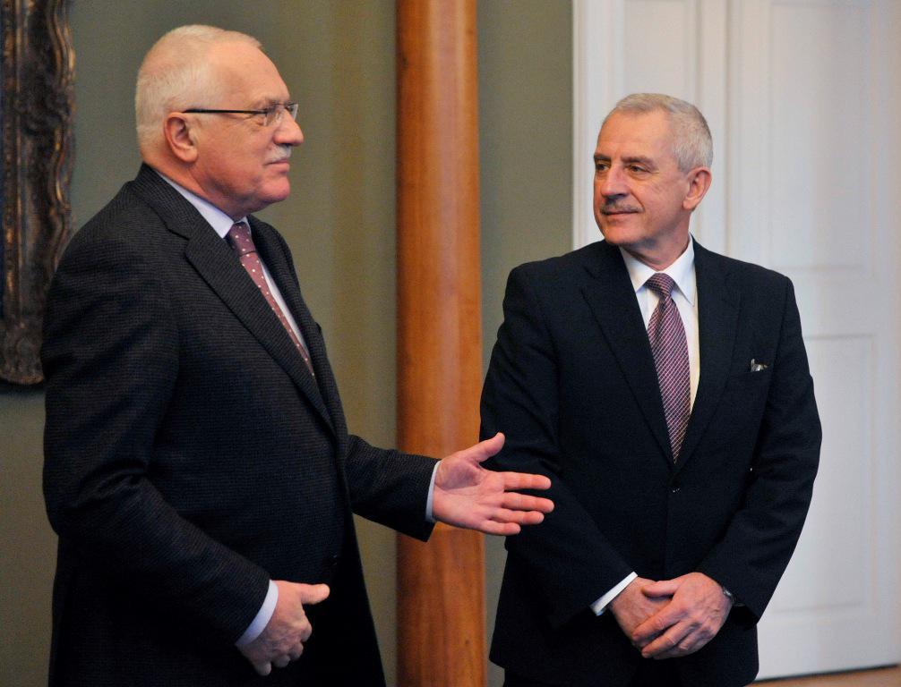 Václav Klaus a Leoš Heger