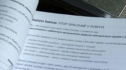 Petice proti spalovně v Rybitví
