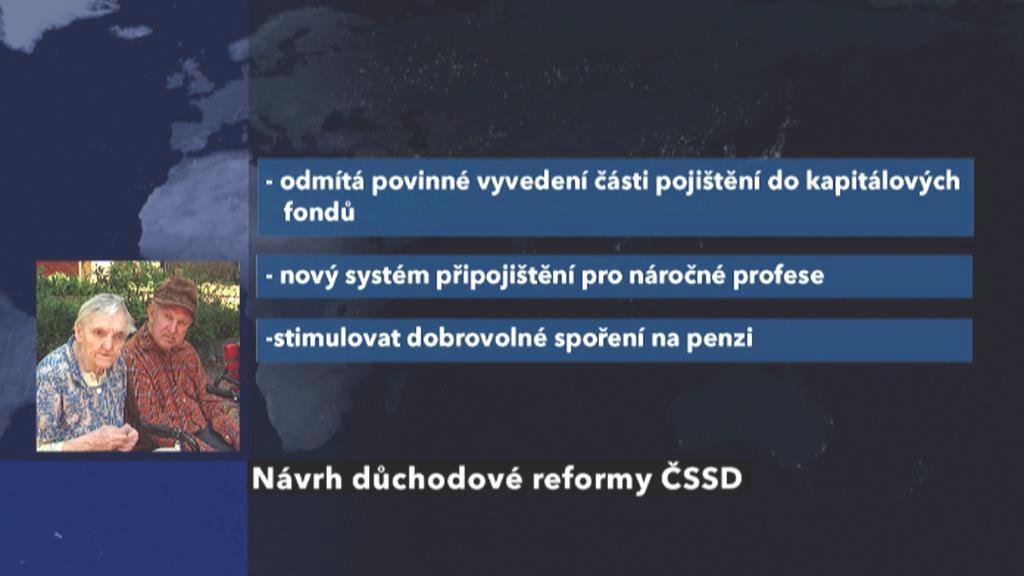 Důchodová reforma dle ČSSD