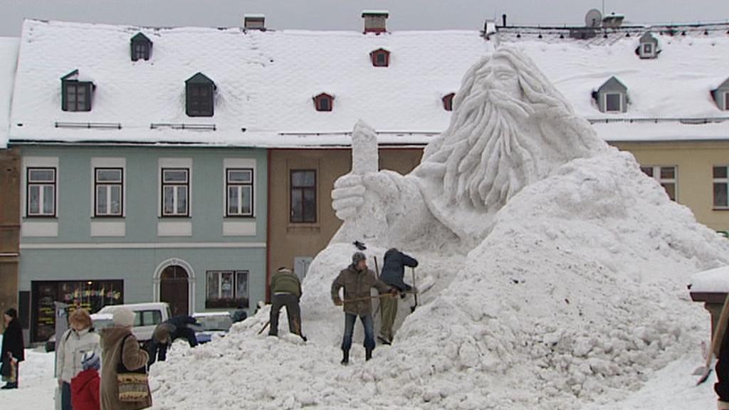 Ledová socha Krakonoše