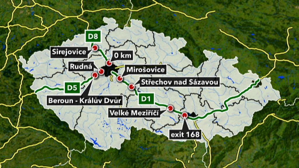 Místa častých dálničních krádeží