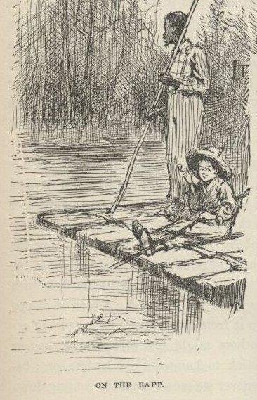Huckleberry Finn a Jim na voru
