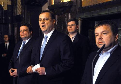Členové grémia ODS po společném jednání