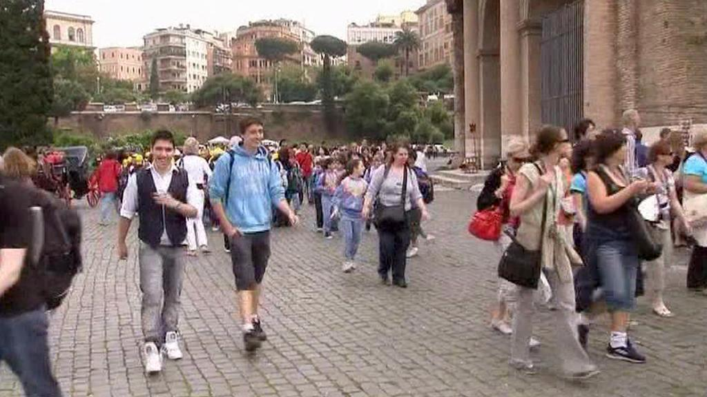 Turisté v Římě