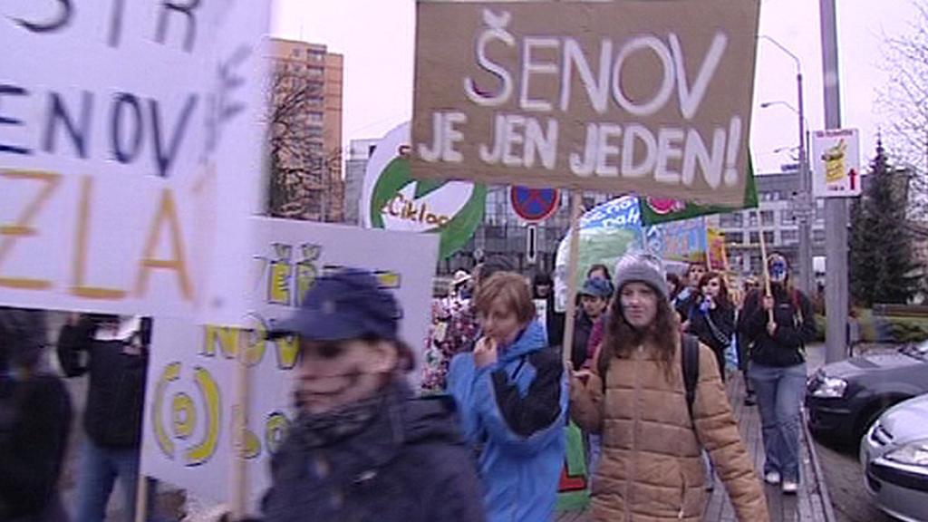 Studentský protest proti rušení školy