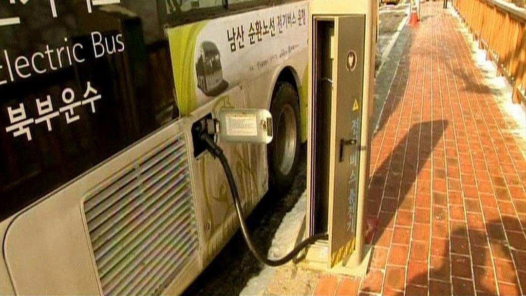 Dobíjení elektrobusu