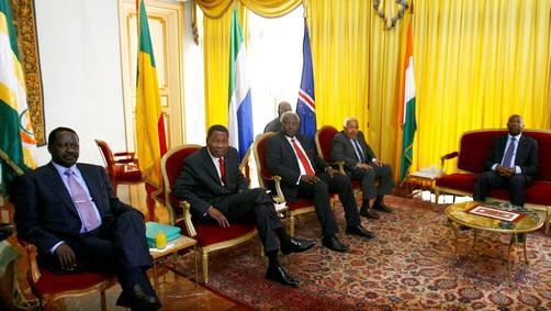 Afričtí prezidenti u Laurenta Gbagba