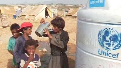 Uprchlický tábor v severním Jemenu