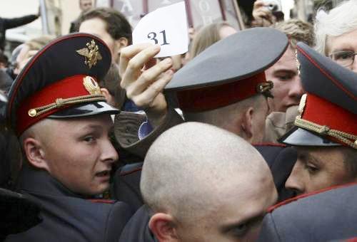 Ruská policie zasahuje proti opoziční demonstraci v Moskvě