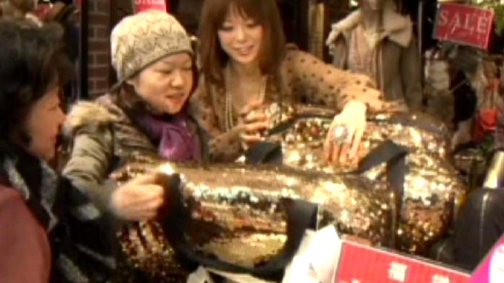 Japonské novoroční nákupy
