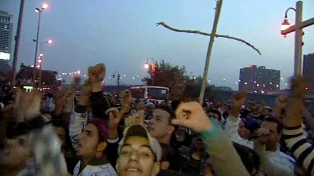 Protesty egyptských křesťanů