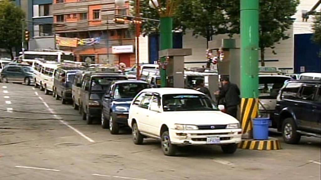 Dopravní chaos v Bolívii