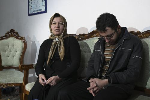 Sakíne Aštíaníová se svýn synem Sejjedem Kaderzádím
