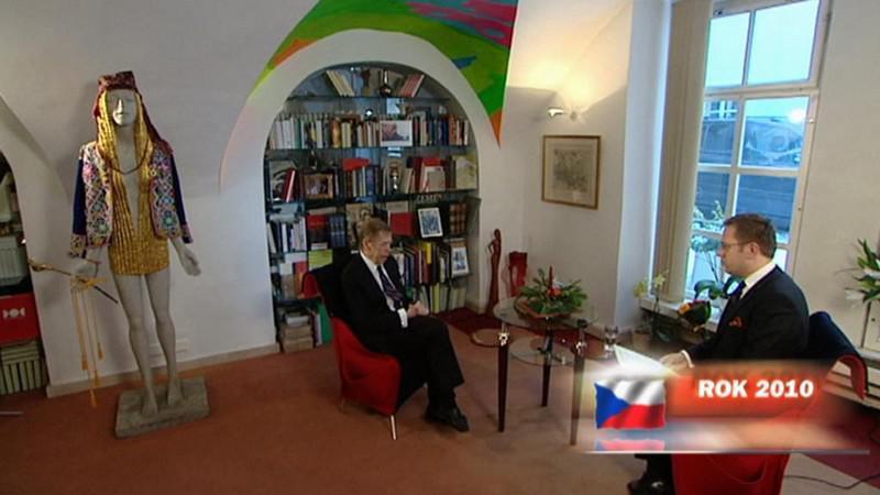 Václav Havel v Otázkách Václava Moravce