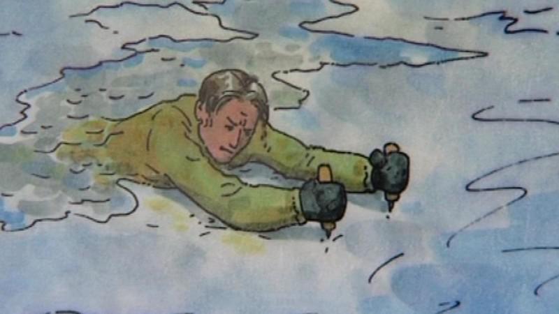 Výstražná cedule na Lipenské, jezeře