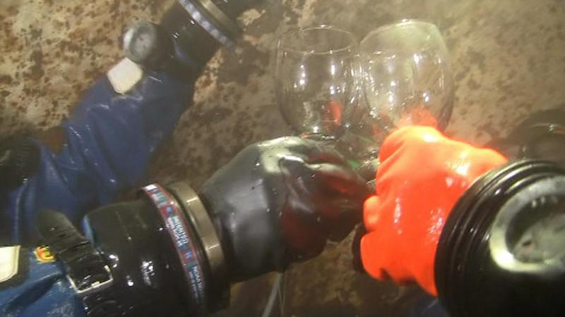Potápěči slaví nový rok