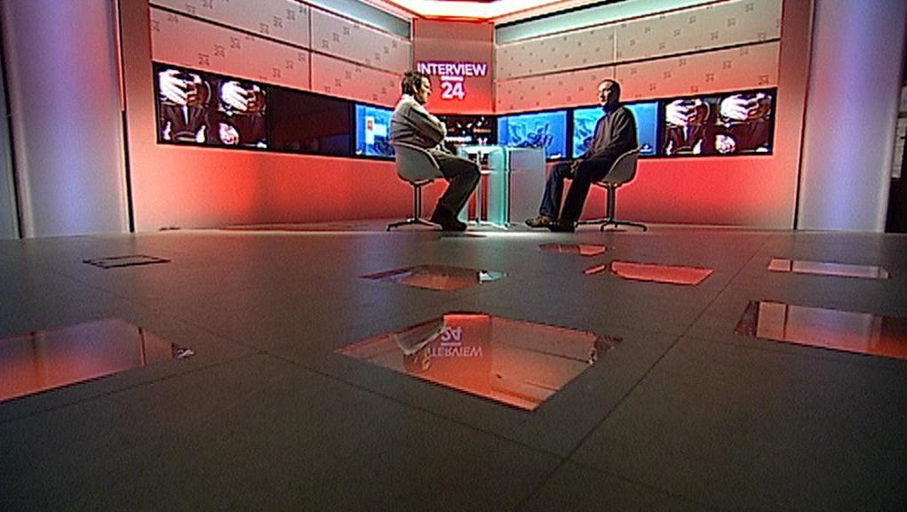 Interview ČT24 v novém studiu 6