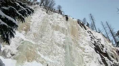 Ledová stěna v Krkonoších