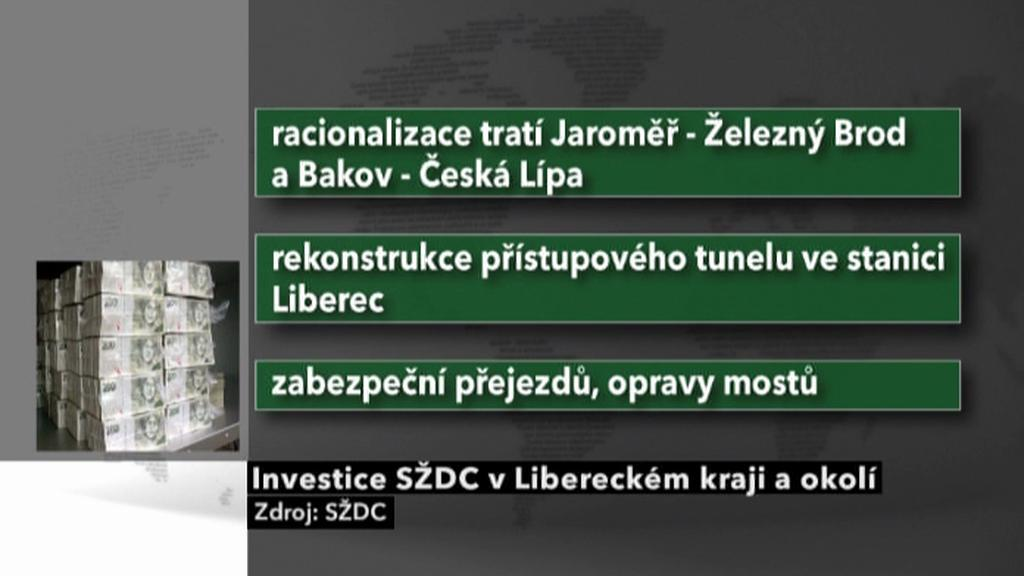 Investice SŽDC v Libereckém kraji