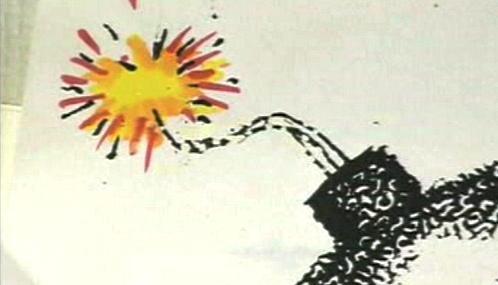 Karikatura Kurta Westergaarda