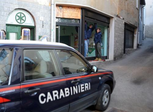 Italská policie před sídlem Ligy severu