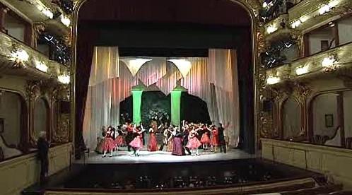 Interiér ústeckého divadla