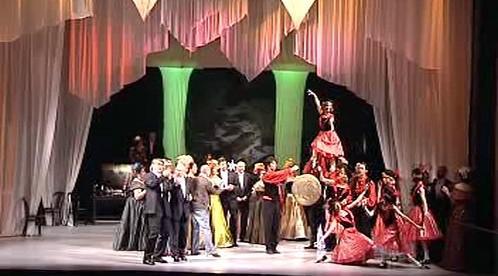 Taneční scéna baletu ústeckého divadla