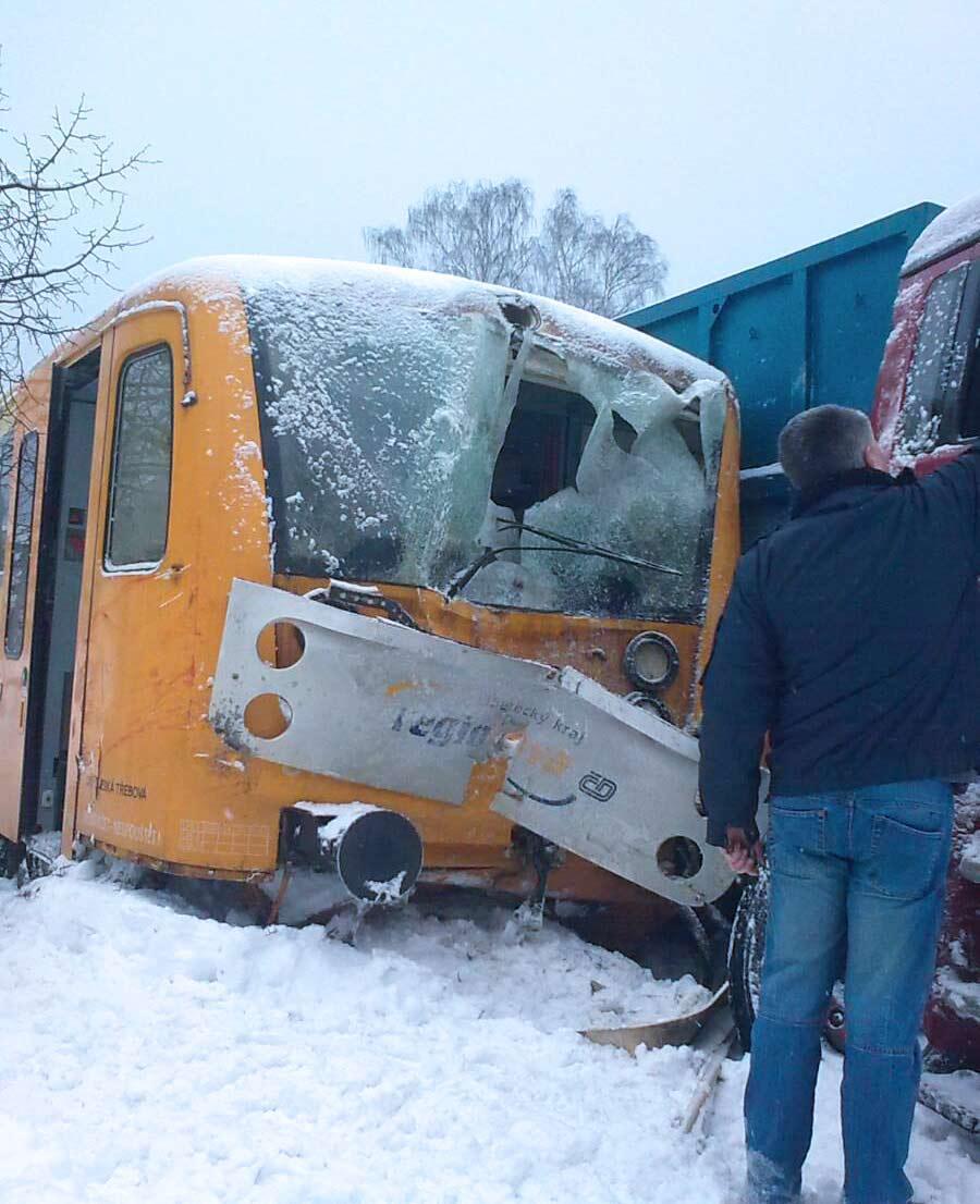 Nehoda vlaku s kamionem