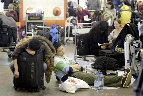 Cestující uvízli na letiští Šeremeťjevo